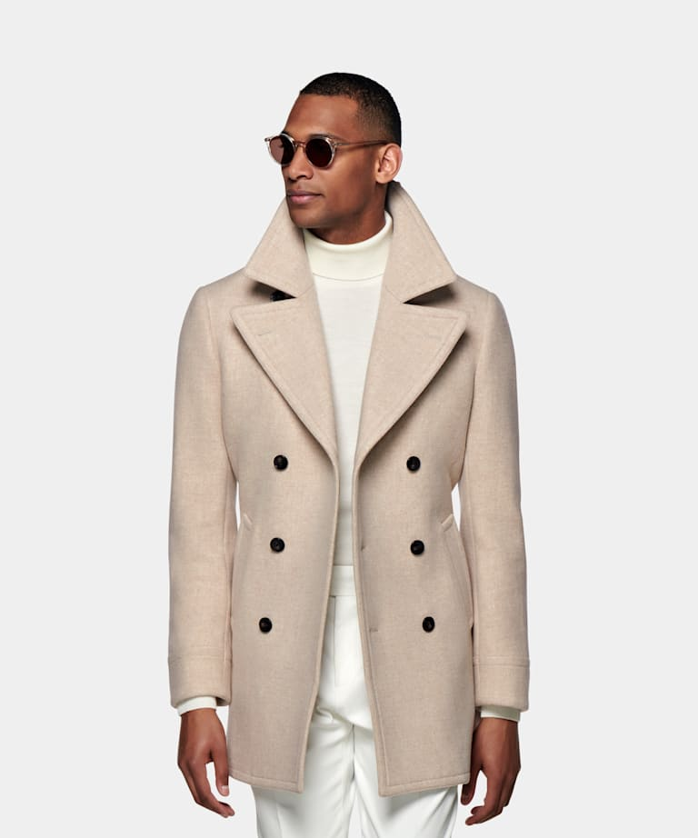 Men S Coats Suitsupply, Mens Brown Pea Coats