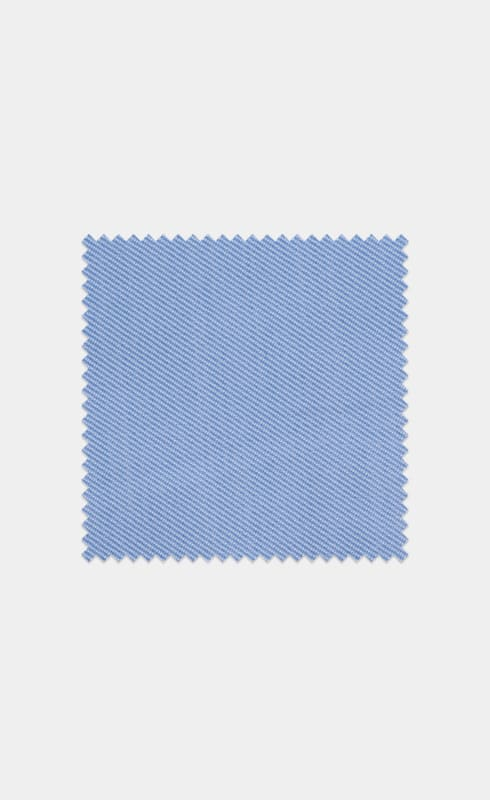 Light Blue Twill Egyptian Cotton