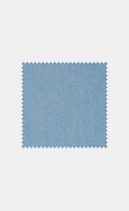 Mid Blue Egyptian Cotton Denim