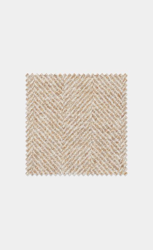 Light Brown Herringbone Pure Wool
