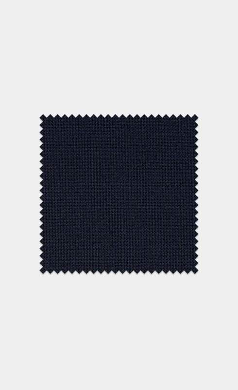 Mid Blue Check Pure Wool S110's