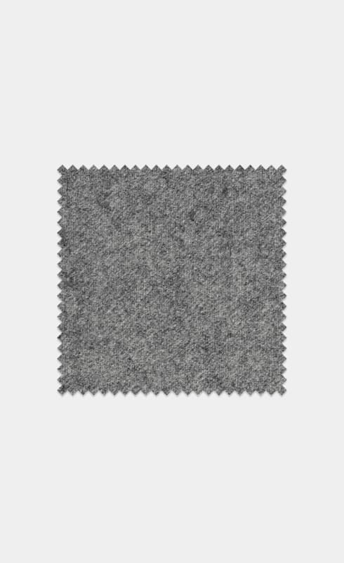 Mid Grey Pure Wool Flannel
