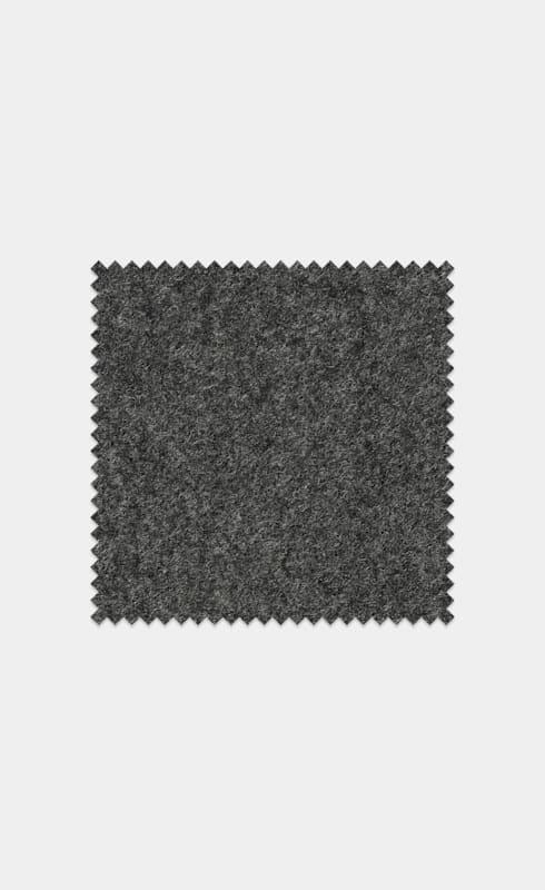 Mid Grey Circular Wool Flannel