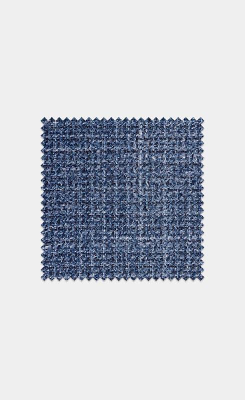 Mid Blue Melange Wool Silk Linen
