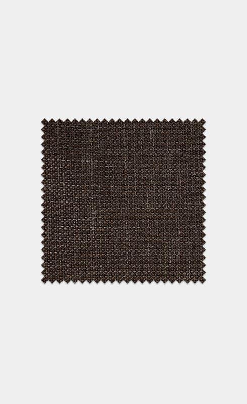 Dark Brown Melange Wool Silk Linen