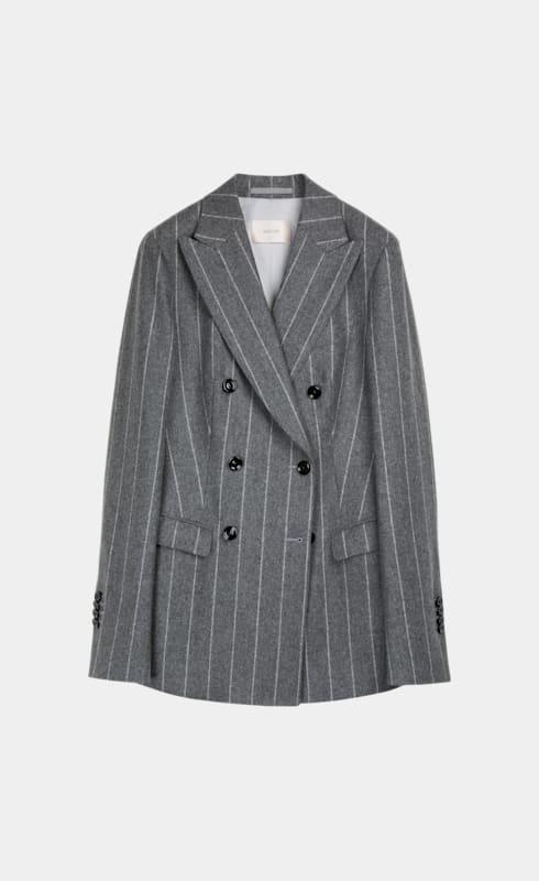 Cameron Grey Striped Suit