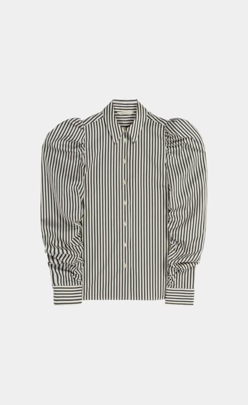 Gemma Green Striped Shirt
