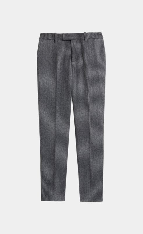 Grey Striped Trousers
