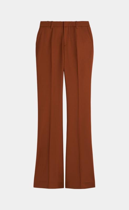 Robin Rust Plain Flared Trousers