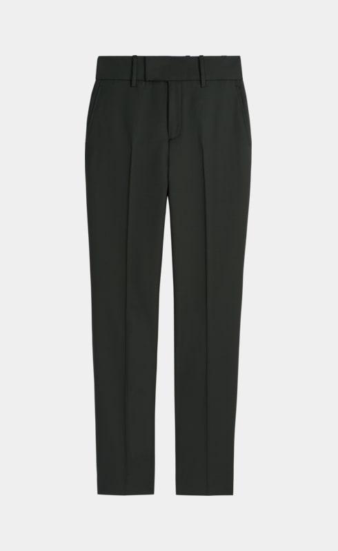 Pantalon Lane vert uni