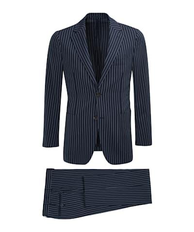 Navy Stripe Havana Suit
