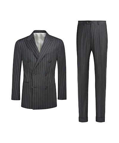 Dark Grey Stripe Havana Suit
