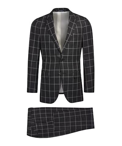 Dark Grey Check Sienna Suit