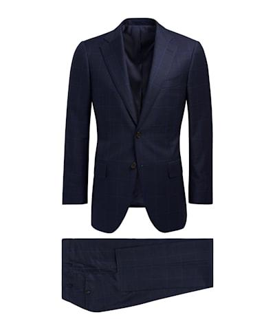 Navy Check Lazio Suit