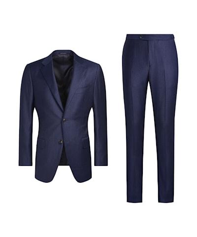 Lazio Anzug blau gestreift