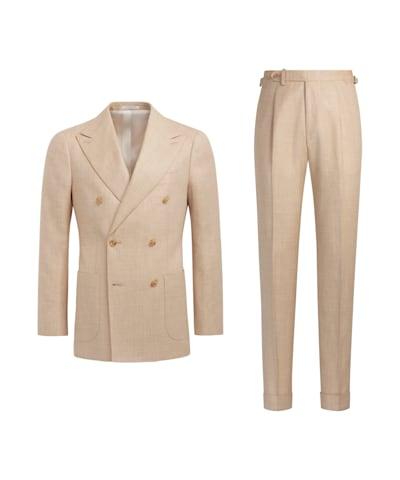 Light Brown Herringbone Havana Suit