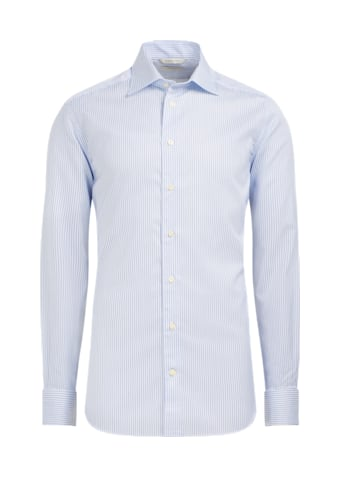 White Pinstripe Slim Fit Shirt