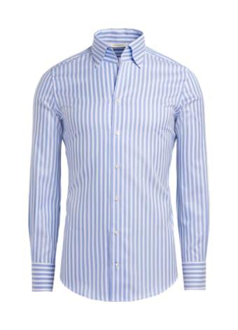Hemd hellblau gestreift Extra Slim Fit