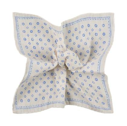 White Flower Pocket Square