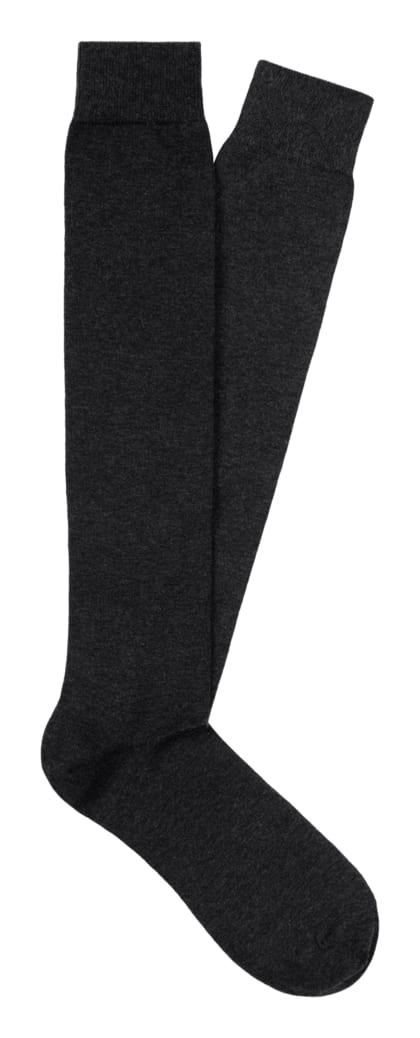 Socken dunkelgrau kniehoch