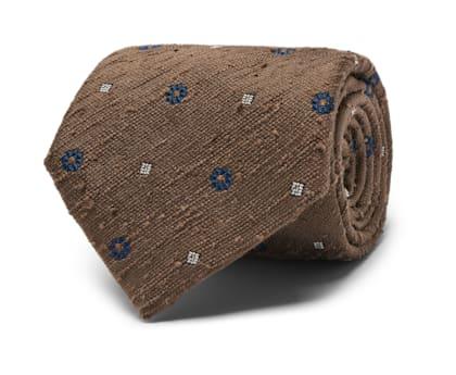 Brown Flower Tie