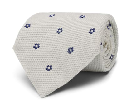 White Flower Tie