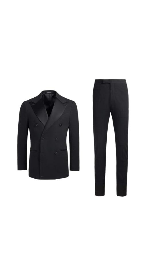 Havana Smoking Anzug schwarz