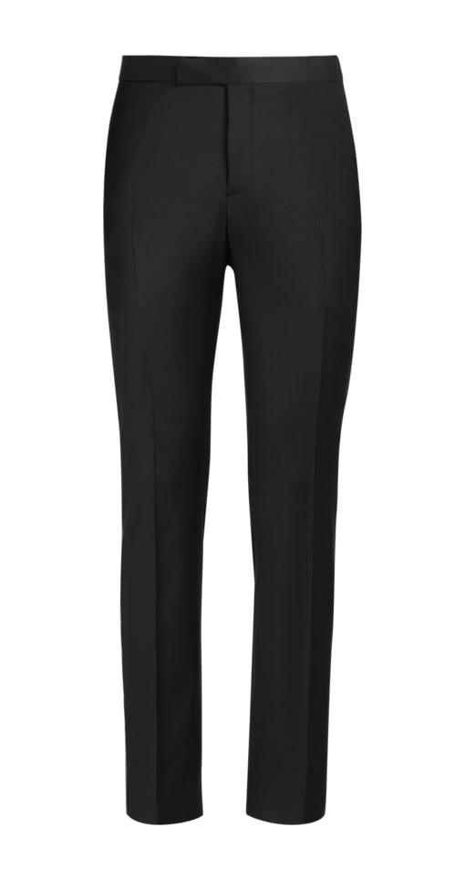 Black Brescia Tuxedo Trousers